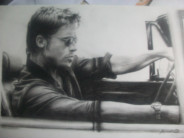 Brad Pitt by Ammarwakil